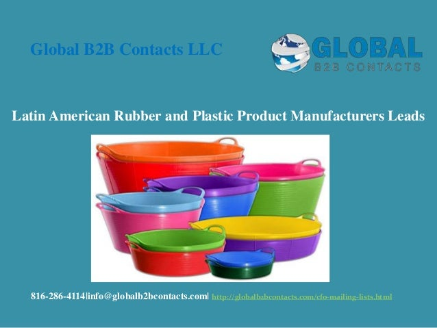 Latin American rubber and plastic product manufacturers leads