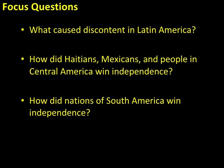 a history of the latin america wars of independence Latin american history - resources : latin american chronology  leads to independence 1793-1815: napoleonic wars disrupt political  women in latin america and .