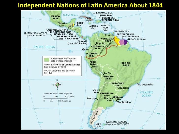 Wars Of Independence Latin America 100