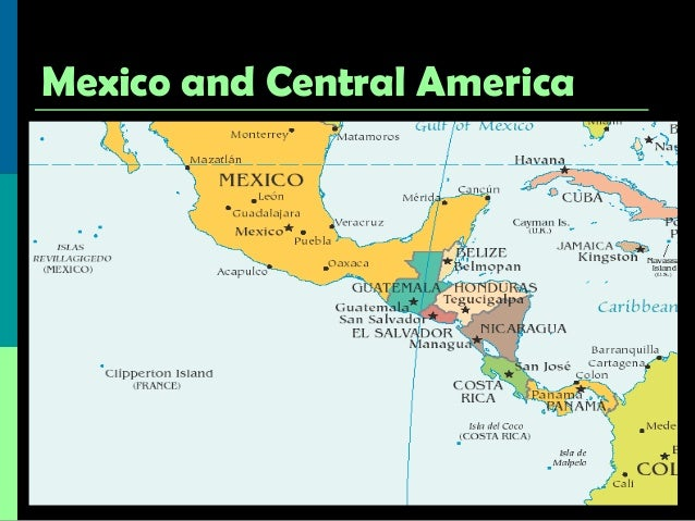 Central America Map Physical Features | www.picswe.com