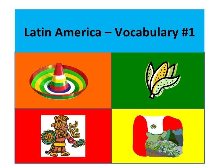 Latin America – Vocabulary #1