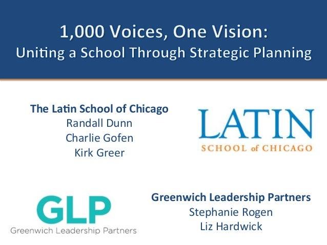 The  La'n  School  of  Chicago   Randall  Dunn   Charlie  Gofen   Kirk  Greer         Greenwich...