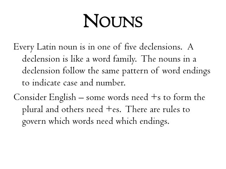 Copy Of Latin 2 Noun Cases And Declensions - Lessons - Tes ...  |Latin Word Endings