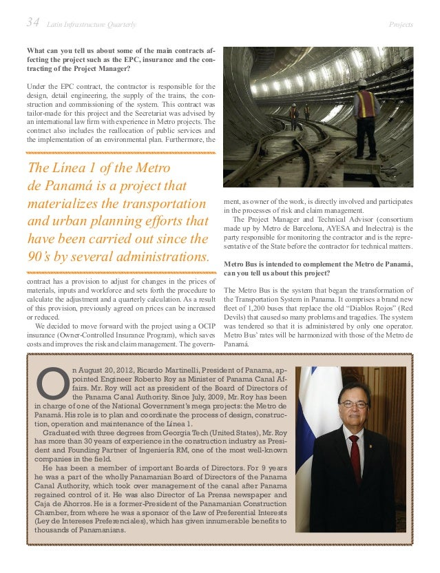 Latin infrastructure quarterly issue 6 for Compagnie francaise d assurance pour le commerce exterieur