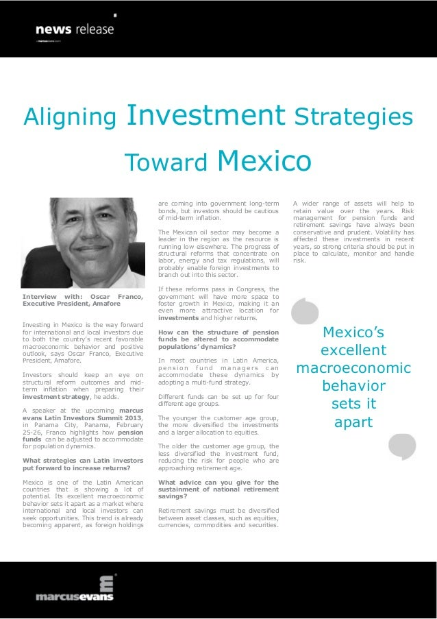 Aligning Investment Strategies                                  Toward Mexico                                            a...