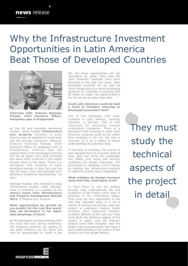 Interview with: Federico Restrepo Posada, Chief Executive Officer, Autopistas para la Prosperidad As the US and European e...