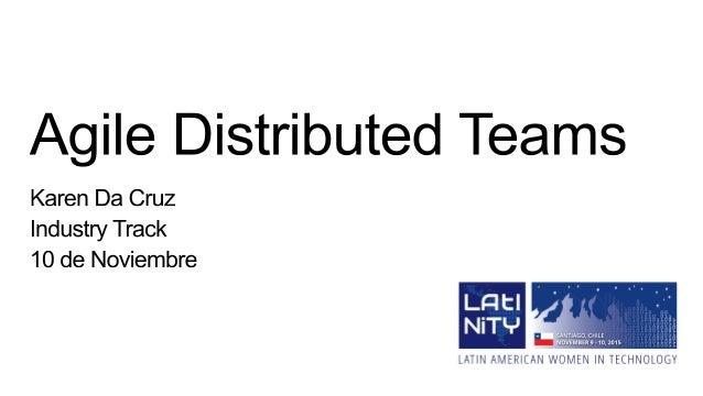 Karen Da Cruz Ingeniera de Sistemas Gestión de Proyectos / Desarrolladora Web me@karendacruz.com @karen_dax