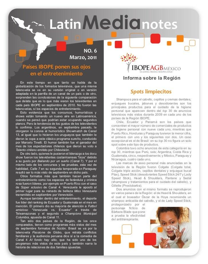 Latin Medianotes                                             NO. 6                                        Marzo, 2011     ...