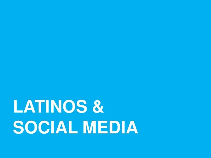 latinos in social media Latinos in social media, washington, dc 131k likes latinos in tech innovation  and social media (latism), a 501(c) 4 nonprofit, nonpartisan organization.