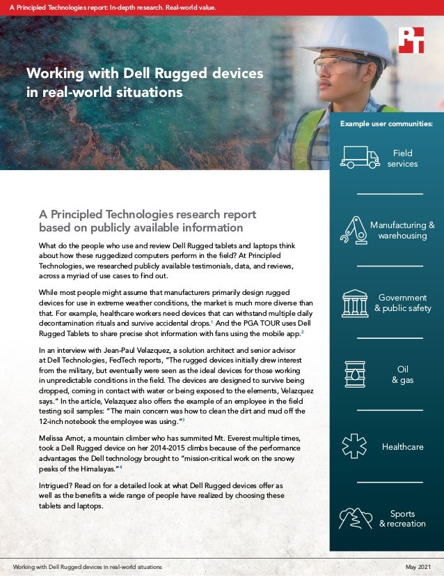 A Principled Technologies research report based on publicly available information What do the people who use and review De...