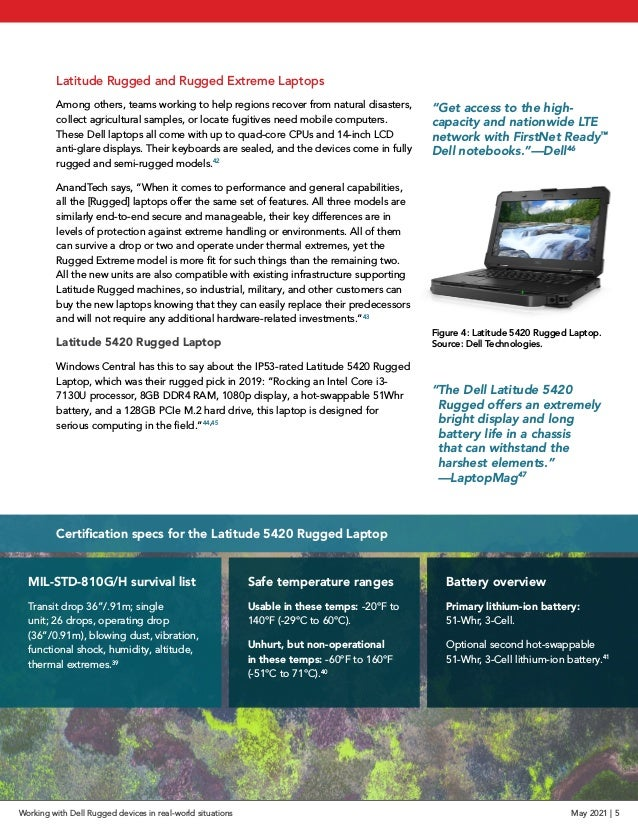 Latitude Rugged and Rugged Extreme Laptops Among others, teams working to help regions recover from natural disasters, col...