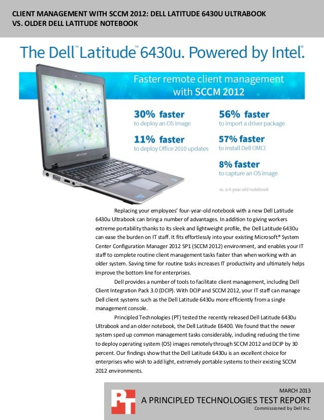 CLIENT MANAGEMENT WITH SCCM 2012: DELL LATITUDE 6430U ULTRABOOKVS. OLDER DELL LATITUDE NOTEBOOK                           ...