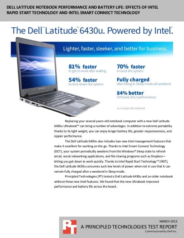 Dell Latitude Notebook Performance And Battery Life Effects Of Intel