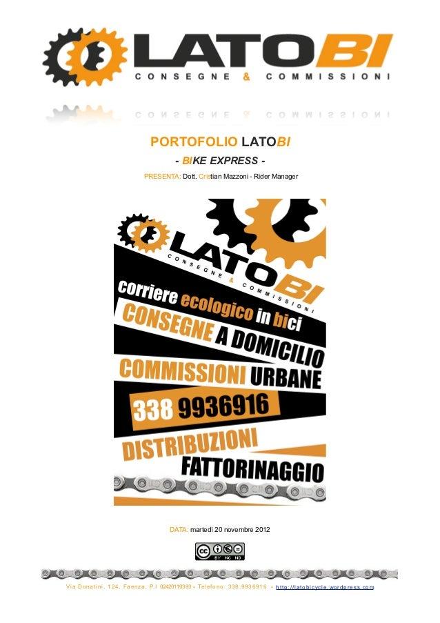 PORTOFOLIO LATOBI                                                        - BIKE EXPRESS -                                 ...
