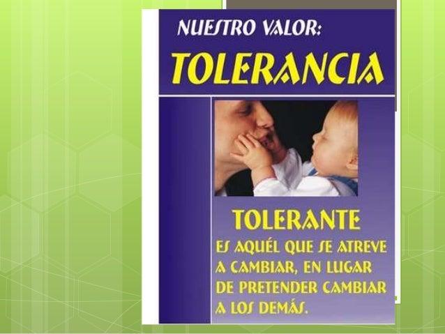 La tolerancia proyecto grado 5°