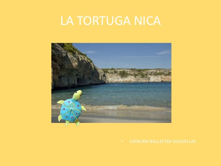 LA TORTUGA NICA         •   CATALINA BALLESTER SOLIVELLAS