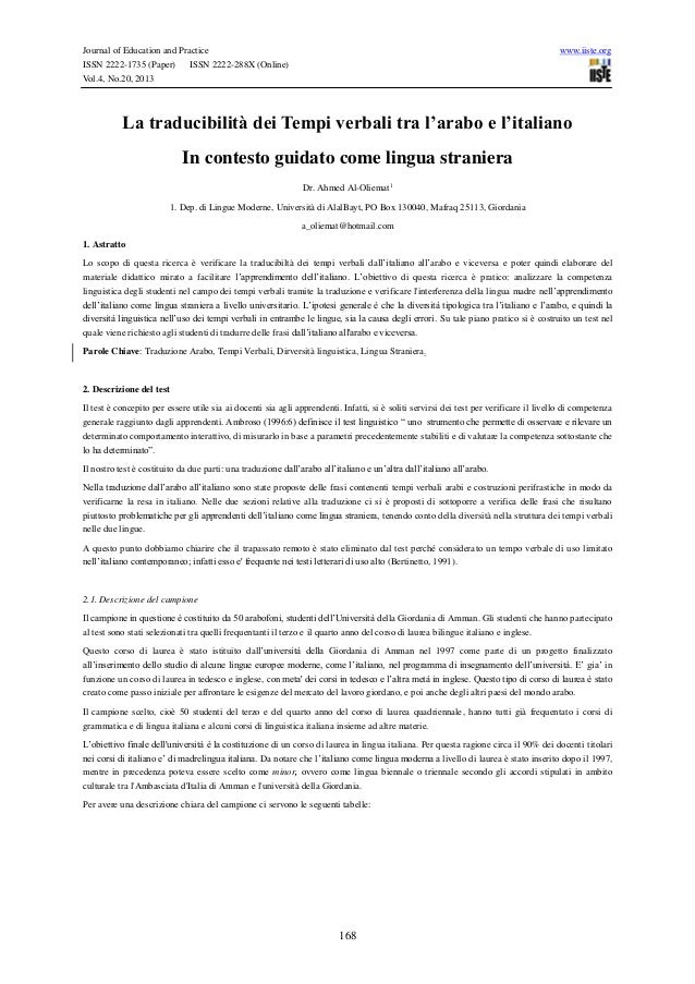 Journal of Education and Practice ISSN 2222-1735 (Paper) ISSN 2222-288X (Online) Vol.4, No.20, 2013  www.iiste.org  La tra...