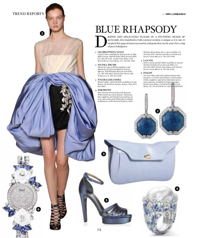 24 trend reports D raped and delicately placed in a stunning shade of periwinkle, this Giambattisa Valle couture creation ...