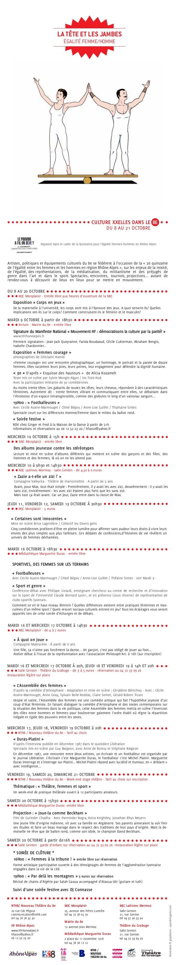 LA TÊTE ET LES JAMBES                                        ÉGALITÉ FEMME/HOMME                                          ...
