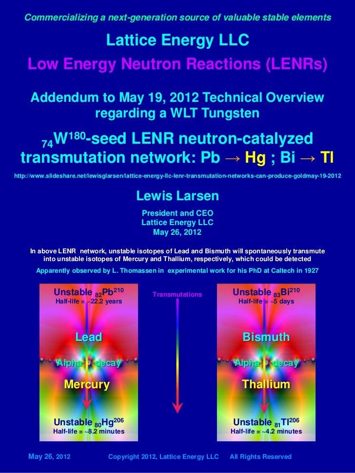 lattice energy llc addendum to may 19 2012 technical overview 1927 ca rh slideshare net