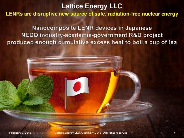 February 7, 2018 Lattice Energy LLC, Copyright 2018 All rights reserved 1February 7, 2018 Lattice Energy LLC, Copyright 20...