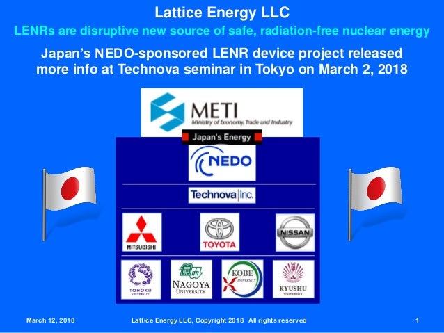 March 12, 2018 Lattice Energy LLC, Copyright 2018 All rights reserved 1March 12, 2018 Lattice Energy LLC, Copyright 2018 A...