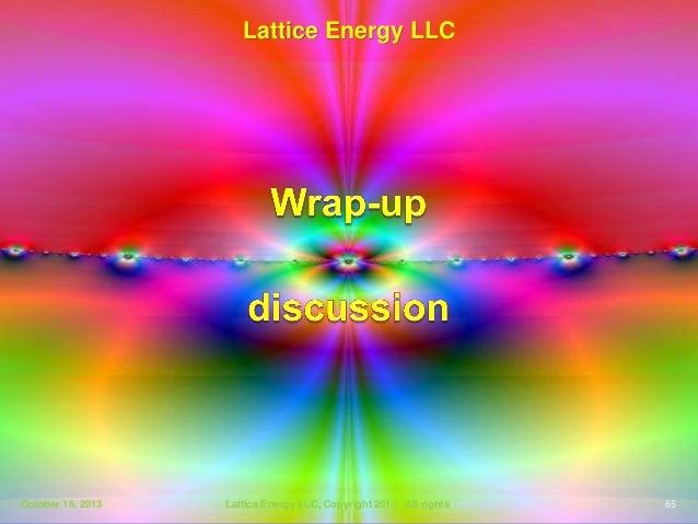 Lattice Energy Llc Technical Discussion Oct 1 Tesla