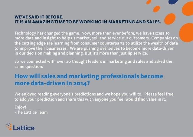 Data-Driven Marketing And Sales Predictions 2014 - Lattice Engines Slide 2