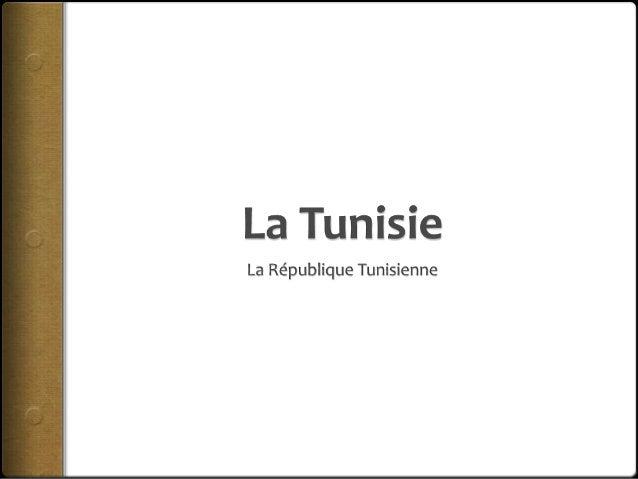 La Tunisie La Tunisie est située au  nord du l'Afrique La forme de la Tunisie est  une république La population (2011) ...