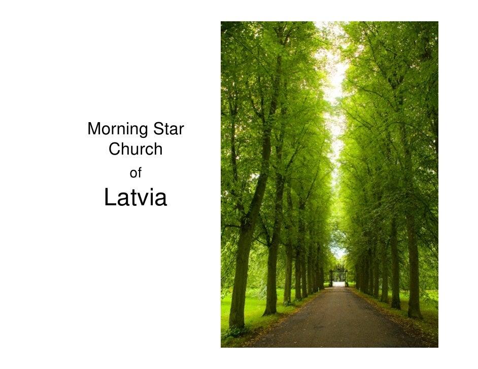 Morning Star   Church      of   Latvia