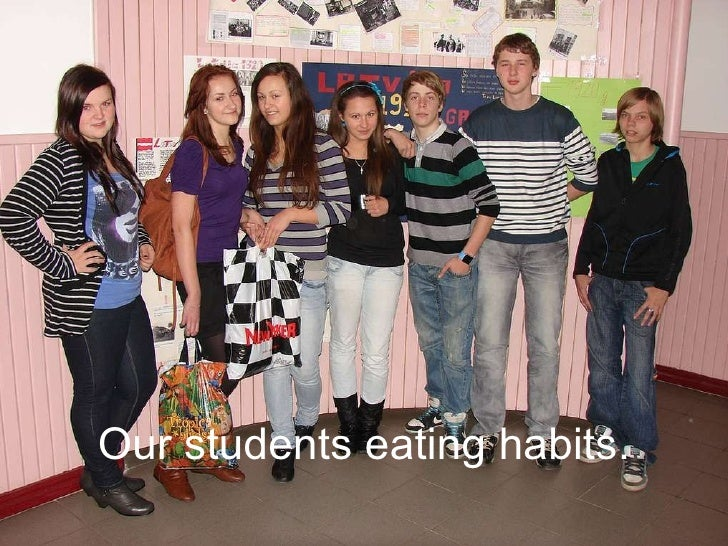 Our students eating habits.