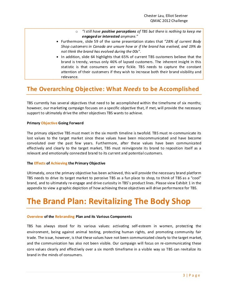 the body shop marketing report This report considers the strategic options available to the body shop and recommending the most appropriate as a way forward it begins with a brief introduction to the body shop and a review of the external and internal environments of the body shop to provide context for the analysis that follows using the findings of.