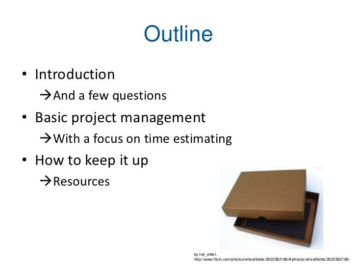 Project Management in a Box Slide 2