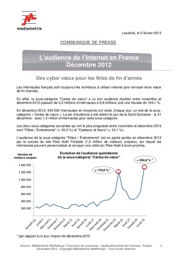 Levallois, le 5 février 2013                                    COMMUNIQUE DE PRESSE                     L'audience de l'I...