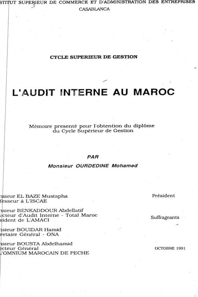L audit interne_au_maroc