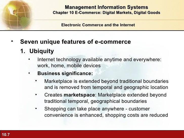 7 unique features of ecommerce technology