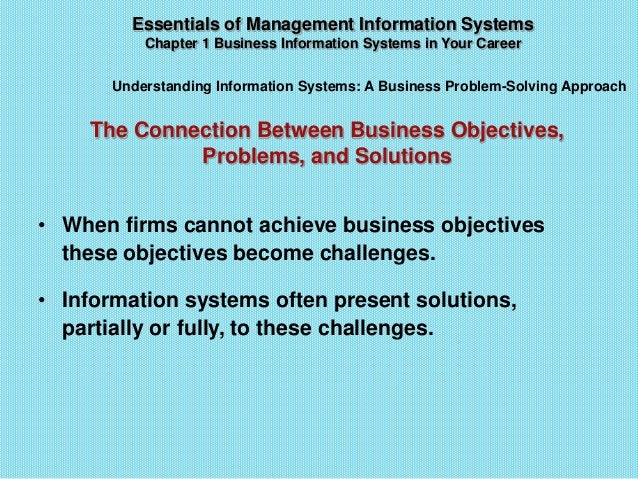 laudon laudon s four step problem solving A business problem-solving approach problem solving is a continuous four-step process during implementation and thereafter,  text book: laudon & laudon,.
