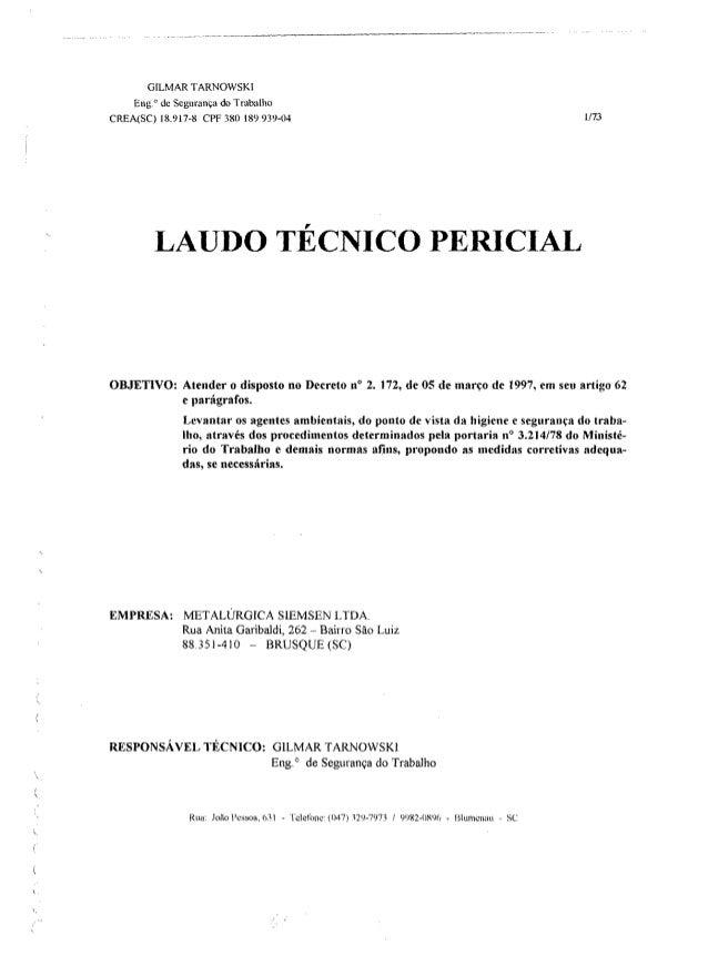 Laudo técnico pericial metalúrgica siemsen   2000