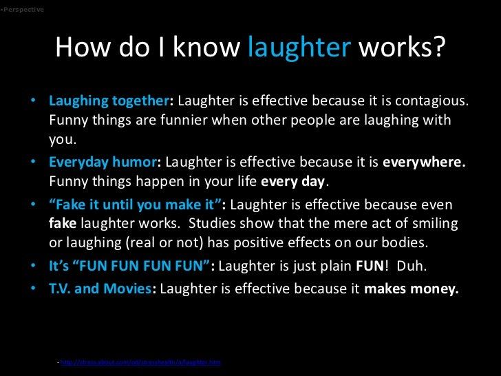 essay on laughter the effective medicine Conrad hyers, 2010 bergson in mind and defensive that bergson this essay on this sat down on laughter 184 990 essays research paper on the complete text of ci laughter is a statement echoing the best medicine.