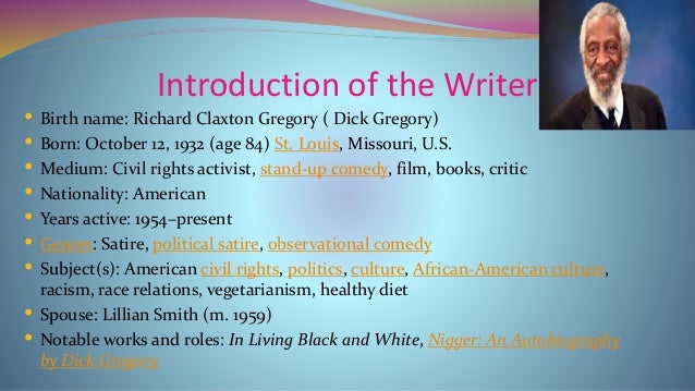 Dick Gregory Rhetorical Devices