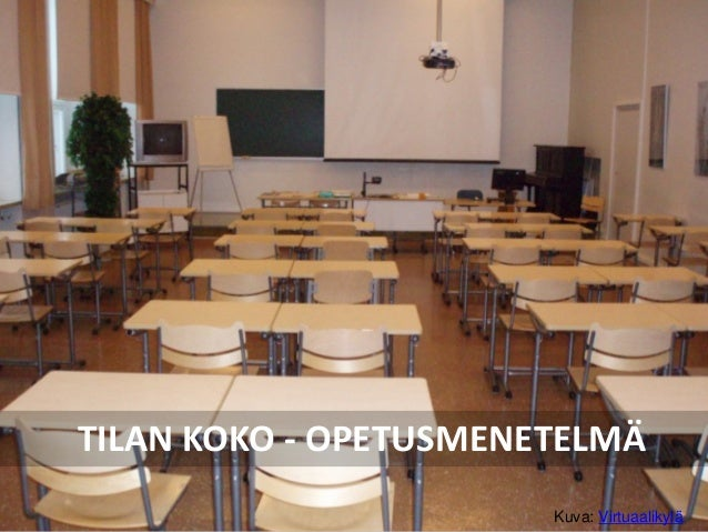 TILAN KOKO - OPETUSMENETELMÄ Kuva: Virtuaalikylä