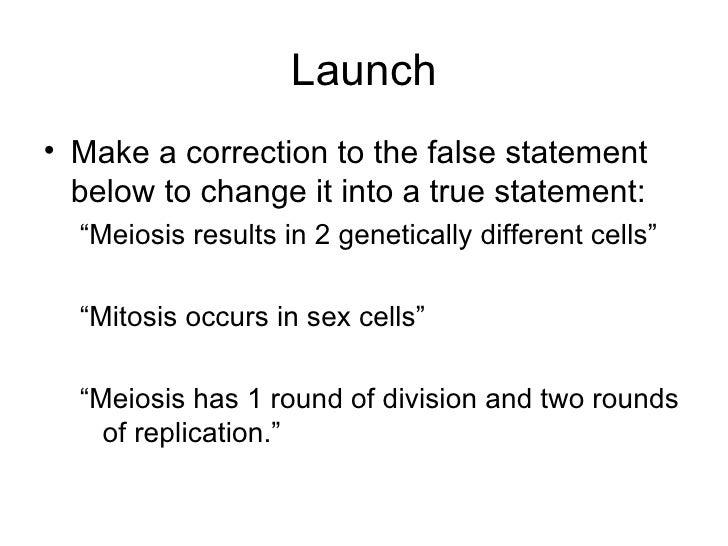 "Launch <ul><li>Make a correction to the false statement below to change it into a true statement: </li></ul><ul><ul><li>""M..."
