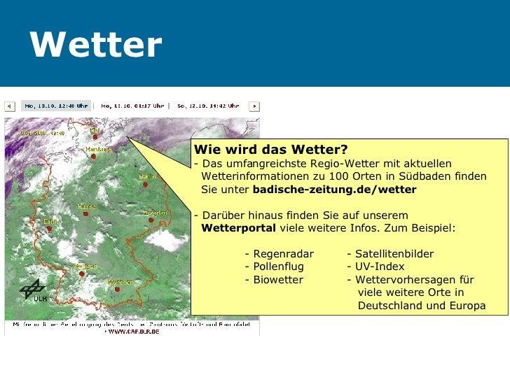 Wetter Wie wird das Wetter? - Das umfangreichste Regio-Wetter mit aktuellen  Wetterinformationen zu 100 Orten in Südbaden ...