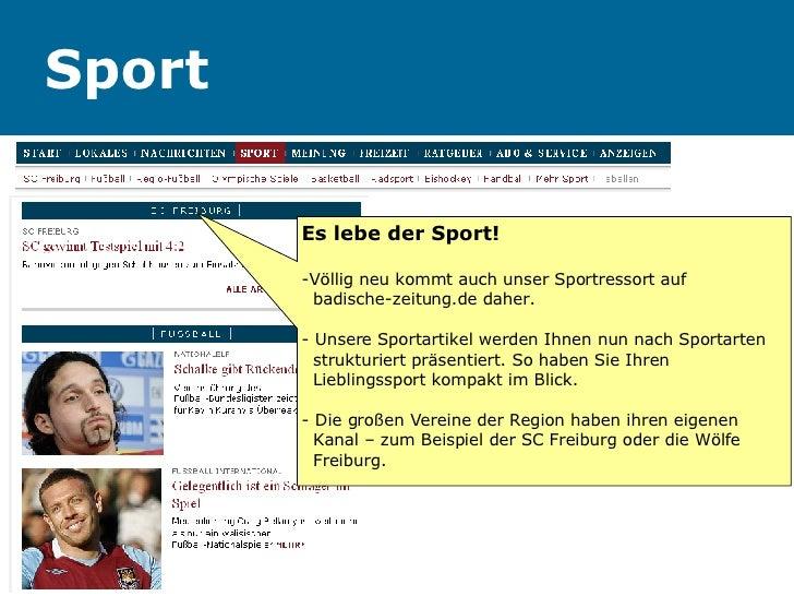 Sport Es lebe der Sport! -Völlig neu kommt auch unser Sportressort auf    badische-zeitung.de daher. - Unsere Sportartikel...