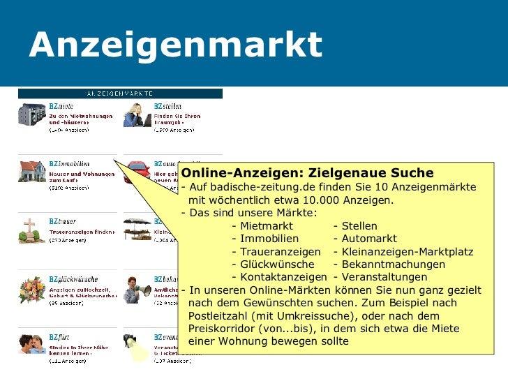 Anzeigenmarkt Online-Anzeigen: Zielgenaue Suche  - Auf badische-zeitung.de finden Sie 10 Anzeigenmärkte    mit wöchentlich...