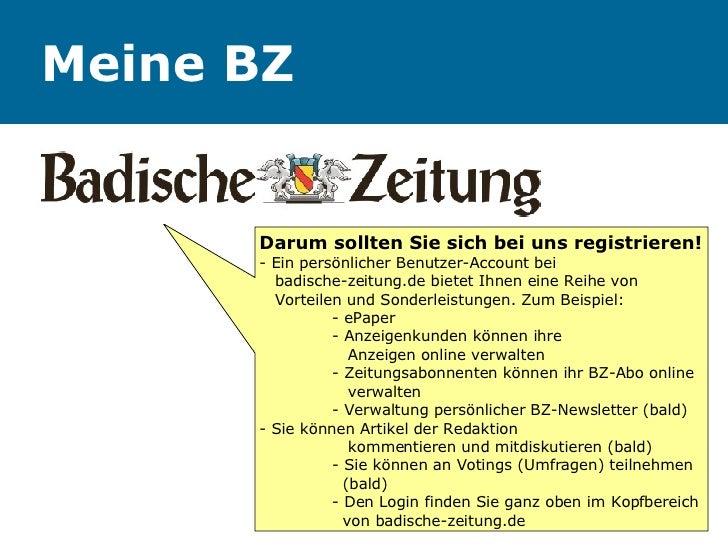 Meine BZ Darum sollten Sie sich bei uns registrieren! - Ein persönlicher Benutzer-Account bei    badische-zeitung.de biete...