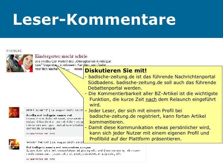 Leser-Kommentare Diskutieren Sie mit! - badische-zeitung.de ist das führende Nachrichtenportal    Südbadens. badische-zeit...