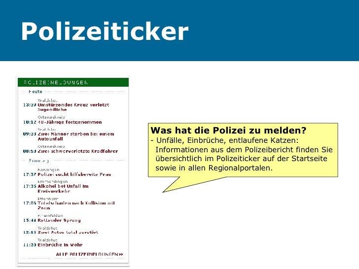 Polizeiticker Was hat die Polizei zu melden? - Unfälle, Einbrüche, entlaufene Katzen:    Informationen aus dem Polizeiberi...