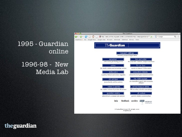 1999 - Guardian Unlimited launches