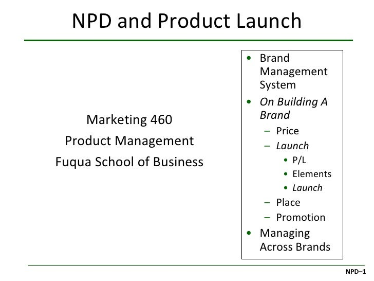 NPD and Product Launch                           • Brand                             Management                           ...